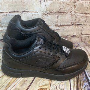 Skechers Slip Resistant Mens Black Sneakers 10.5